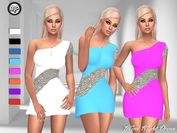 Sims 4 MP Mini Night Dress by MartyP at TSR