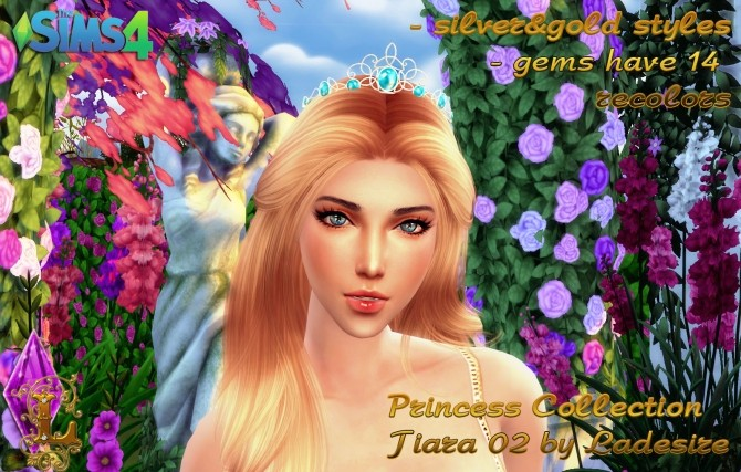 Princess Collection Tiara 02 at Ladesire image 1031 670x427 Sims 4 Updates
