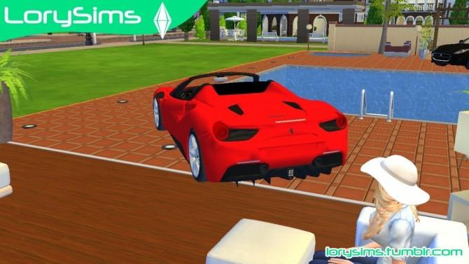 Ferrari 488 Spider at LorySims image 10313 670x377 Sims 4 Updates