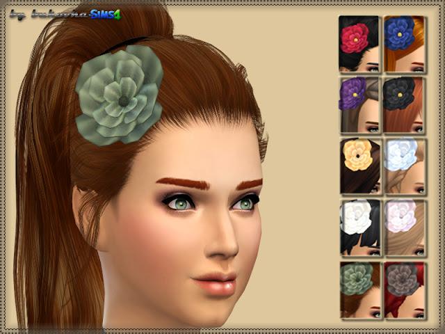 Sims 4 Flower headwear at Bukovka