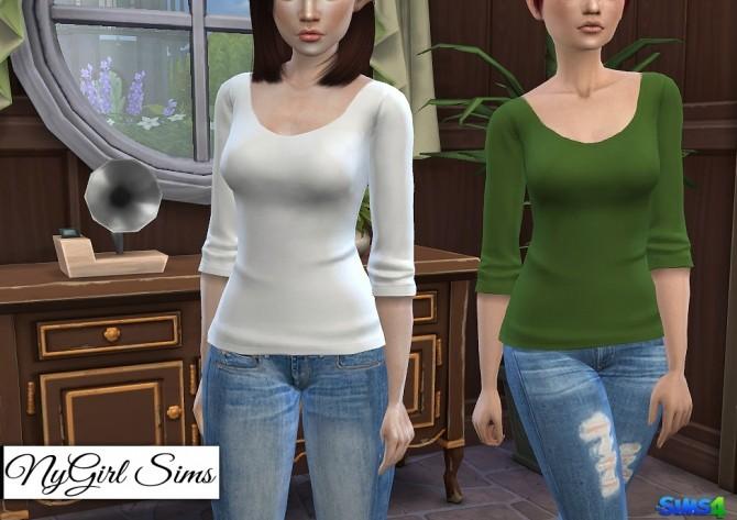 Three Quarter Sleeve Tee at NyGirl Sims image 1037 670x473 Sims 4 Updates