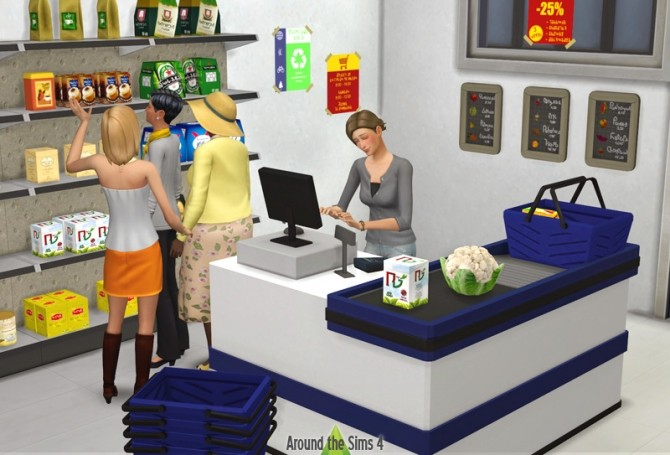 Sims 4 Grocery set by Sandy at Around the Sims 4
