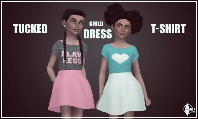 Sims 4 Tucked T Shirt Dress at Onyx Sims