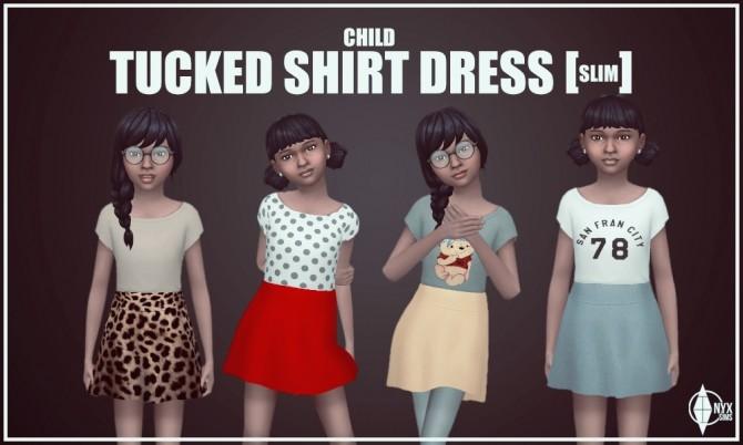 Sims 4 Tucked Shirt Dress at Onyx Sims