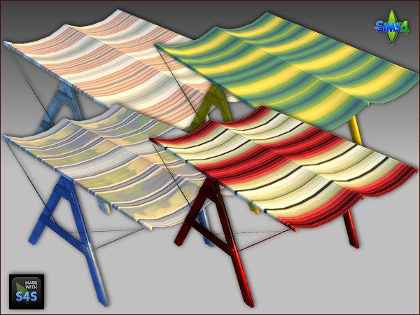 Sims 4 Beach set: chair and canopy by Mabra at Arte Della Vita