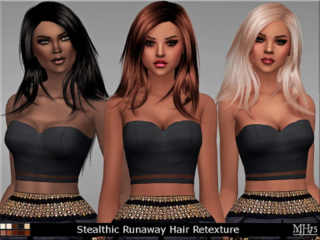 Sims 4 Stealthic Runaway Hair Shine Retexture by Margeh75 at Sims Addictions
