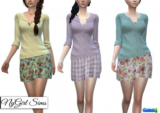 Sims 4 Sundress with Cardigan Sweater at NyGirl Sims