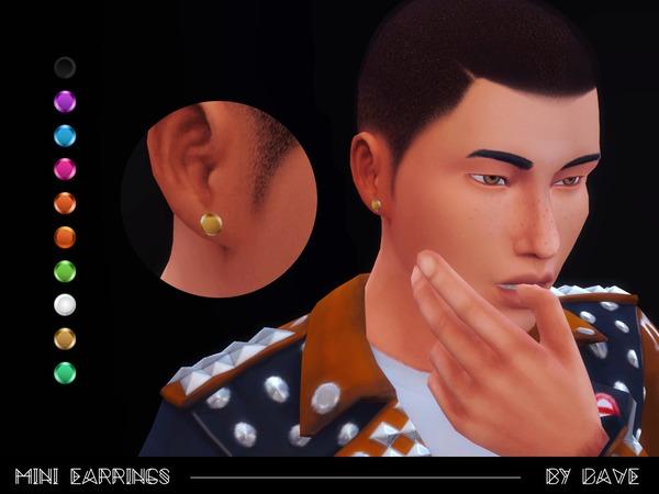 Sims 4 Mini Earrings by doumeki at TSR