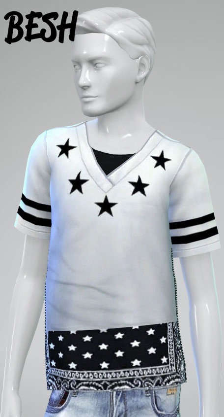 Sims 4 New tops for males at Besh