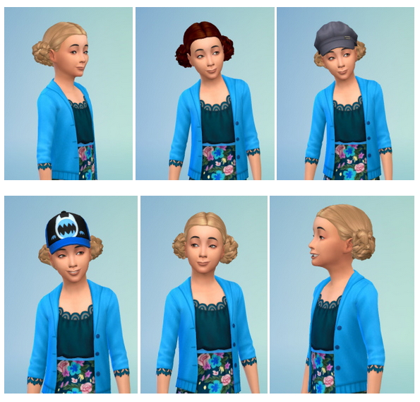 Sims 4 PomPom Hair for Girls at Birksches Sims Blog