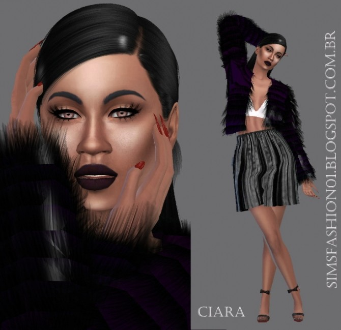 Sims 4 Queen Ciara at Sims Fashion01