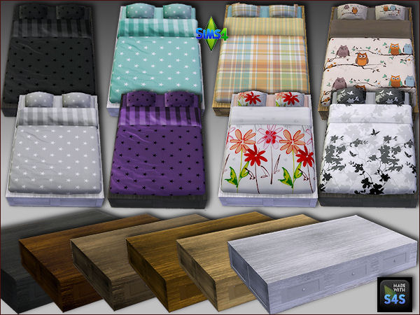 Bedframes and beddings by Mabra at Arte Della Vita image 12110 Sims 4 Updates