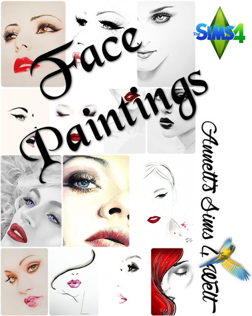 Sims 4 Face paintings at Annett's Sims 4 Welt