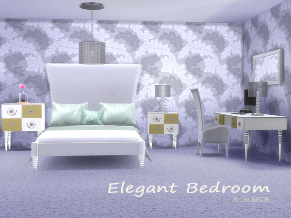Sims 4 Elegant Bedroom by ShinoKCR at TSR