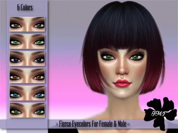 IMF Fierce Eyecolors F/M by IzzieMcFire at TSR image 1220 Sims 4 Updates