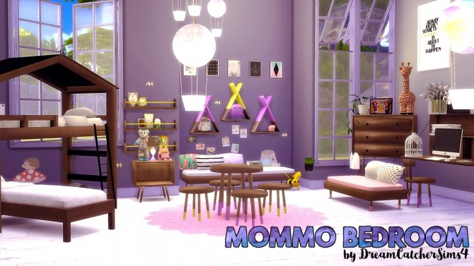 Sims 4 Mommo Bedroom Set at DreamCatcherSims4