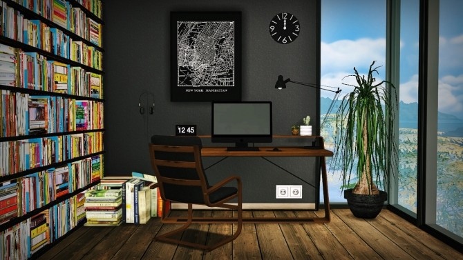 Office 7 Mid Century Modern Workspace At Mxims 187 Sims 4