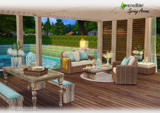 Spring aroma patio at simcredible designs 4 sims 4 updates for Sims 4 exterior design