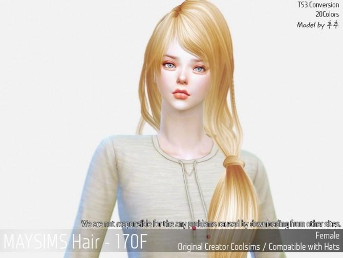 Sims 4 Hair 170F (CoolSims) at May Sims
