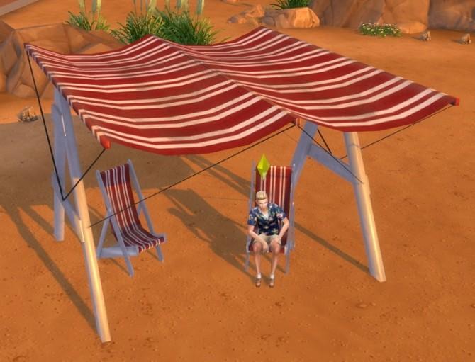 Sims 4 Hafiseazale Beach Canopy from Bioshock Infinite by BigUglyHag at SimsWorkshop