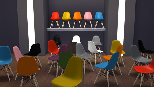 Plastic Chair DSW at Meinkatz Creations image 1277 Sims 4 Updates