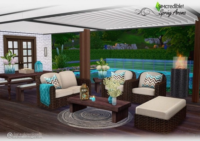 Spring Aroma Patio At Simcredible Designs 4 187 Sims 4 Updates