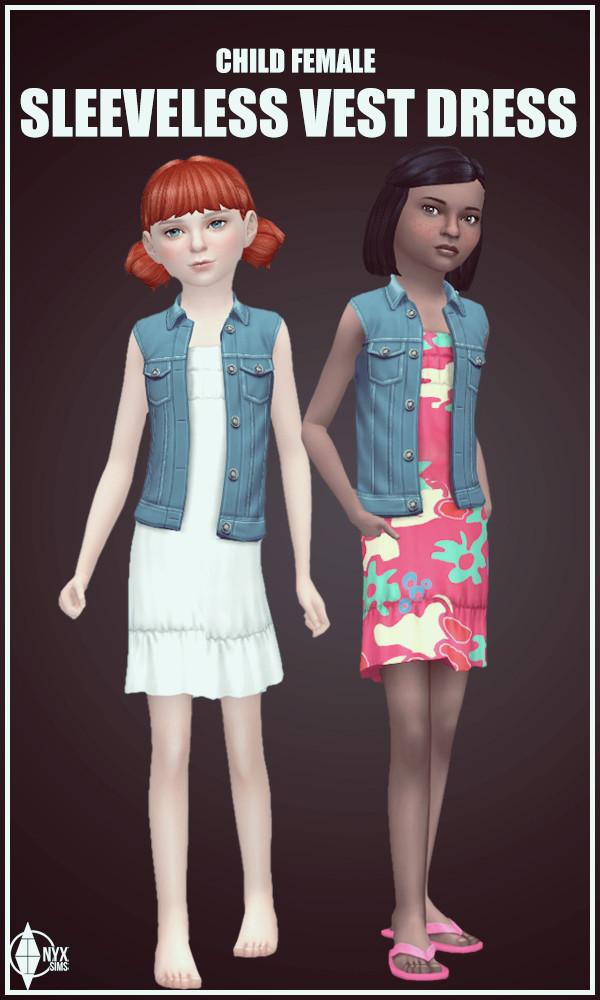 Sims 4 Sleeveless Vest Dress at Onyx Sims