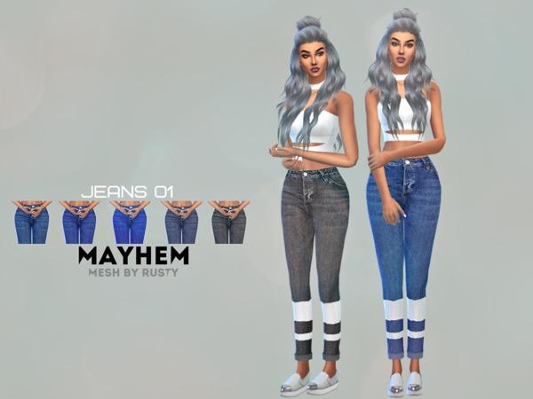 Sims 4 Jeans 01 by NataliMayhem at TSR
