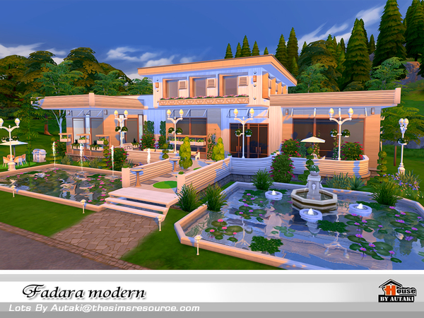 Sims 4 Fadala Modern house by autaki at TSR