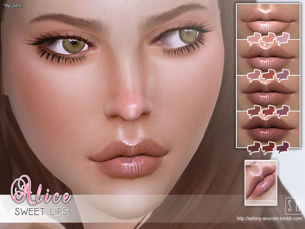 Alice sweet lips by Screaming Mustard at TSR image 1370 Sims 4 Updates