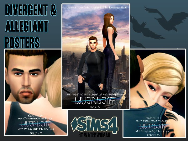 DIVERGENT Poster by Waterwoman at Akisima image 13711 Sims 4 Updates