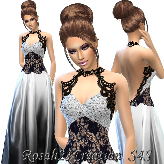 Silky satin and lace dress at Sims Dentelle image 14012 Sims 4 Updates