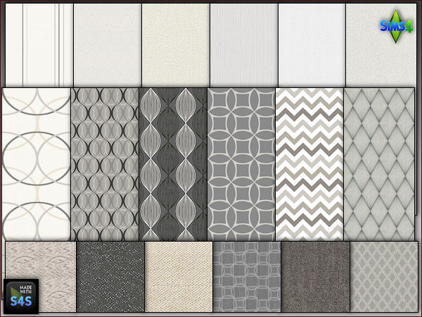 6 wallpaper carpet sets by Mabra at Arte Della Vita image 1431 Sims 4 Updates