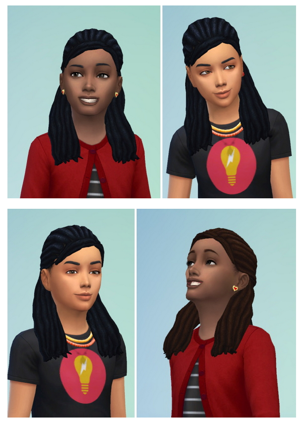 Sims 4 Dreads Halfup for Kids at Birksches Sims Blog
