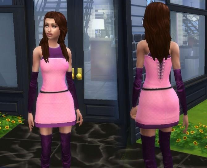 Sims 4 TS2 teen dress to TS4 conversion at My Stuff