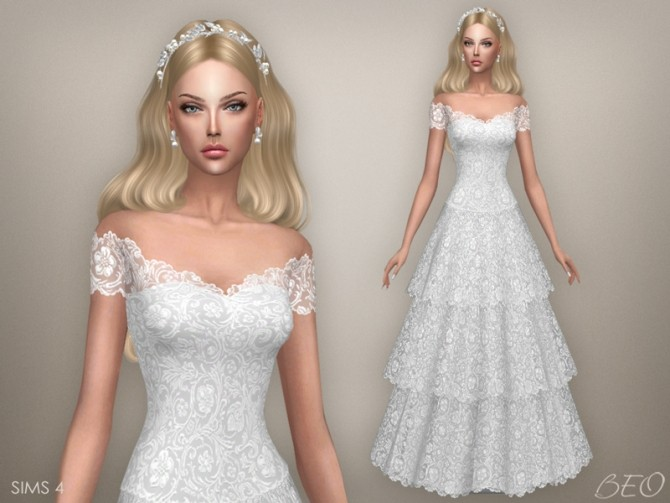 VINTAGE WEDDING DRESS At BEO Creations » Sims 4 Updates