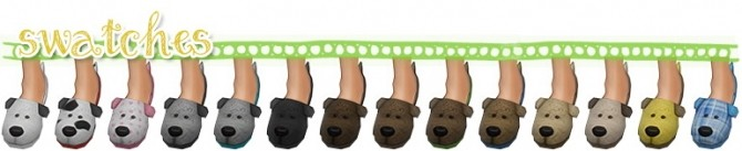 Sims 4 Puppy Slippers at SimLaughLove