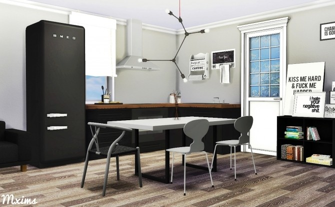 Scandinavian dining room at mxims sims 4 updates for Dining room ideas sims 4