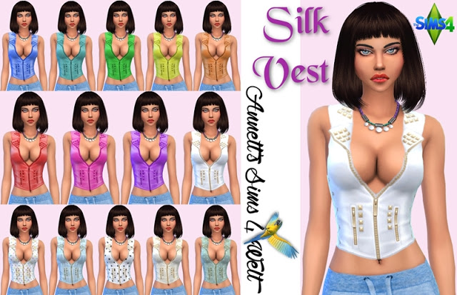 Sims 4 Silk Vest at Annett's Sims 4 Welt