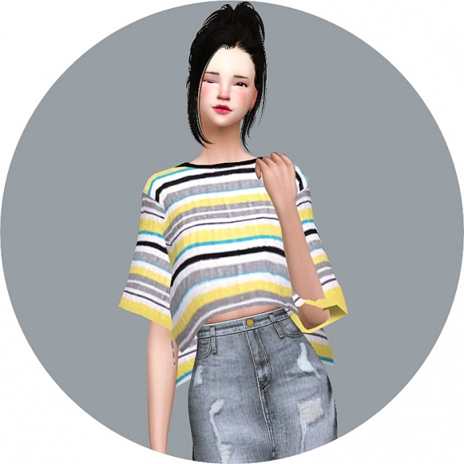 Boxy Half Sleeves T Shirt at Marigold image 1488 670x670 Sims 4 Updates