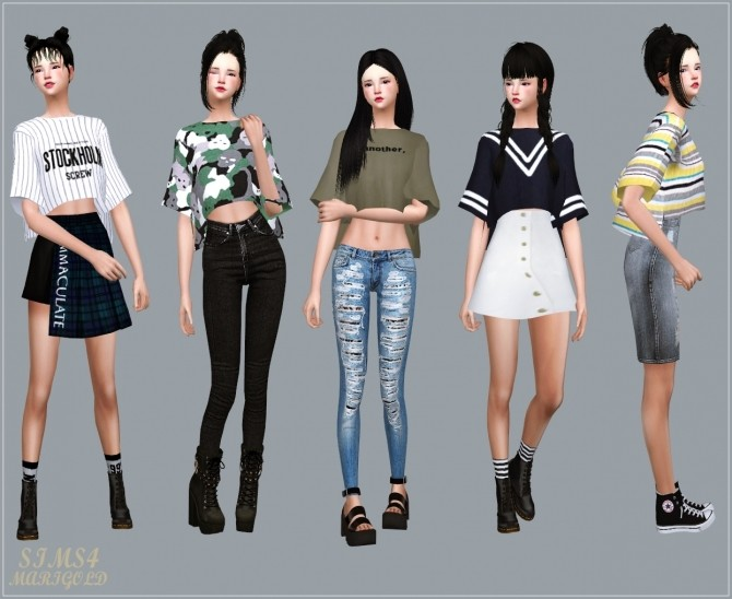 Boxy Half Sleeves T Shirt at Marigold image 15112 670x548 Sims 4 Updates