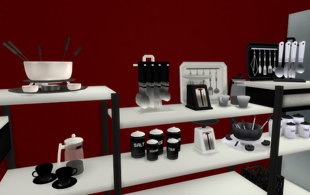 Clutter Altea Kitchen By Mary Jim 233 Nez At Pqsims4 187 Sims 4