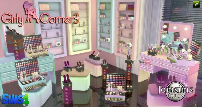 girly corner 3 set at jomsims creations 187 sims 4 updates