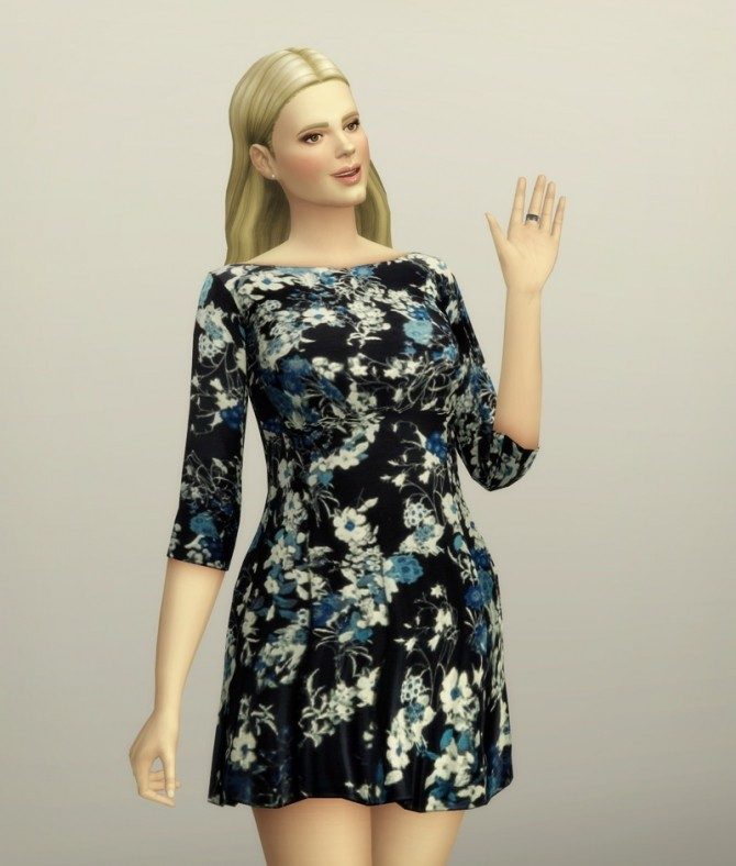 Floral dress at Rusty Nail image 1549 670x788 Sims 4 Updates