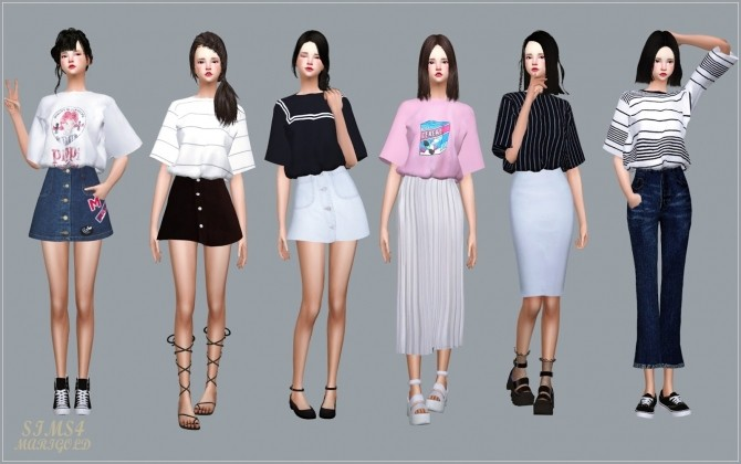Tucked In Boxy Tee At Marigold 187 Sims 4 Updates