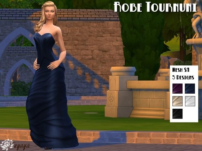 Sims 4 Tournuni dress by Fuyaya at Sims Artists