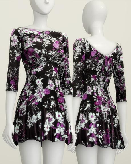 Floral dress at Rusty Nail image 1578 Sims 4 Updates