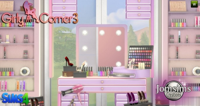 Girly corner 3 set at Jomsims Creations » Sims 4 Updates