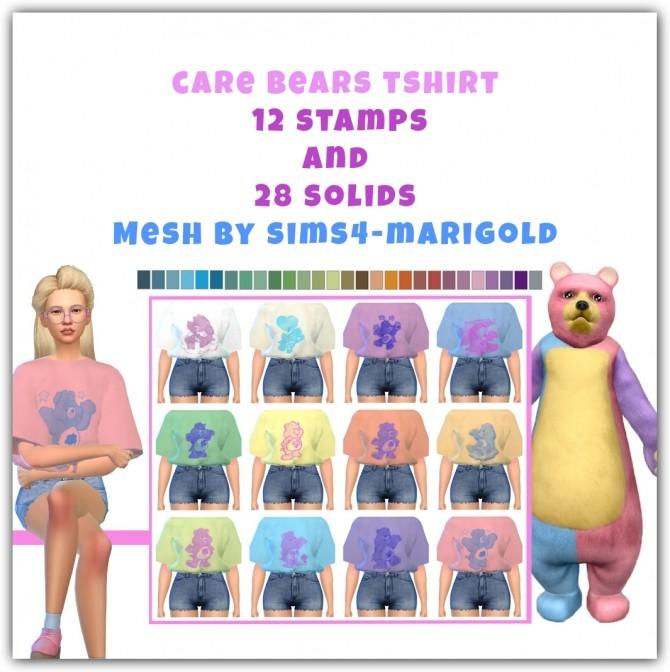 Sims 4 Care Bears T shirt at Maimouth Sims4
