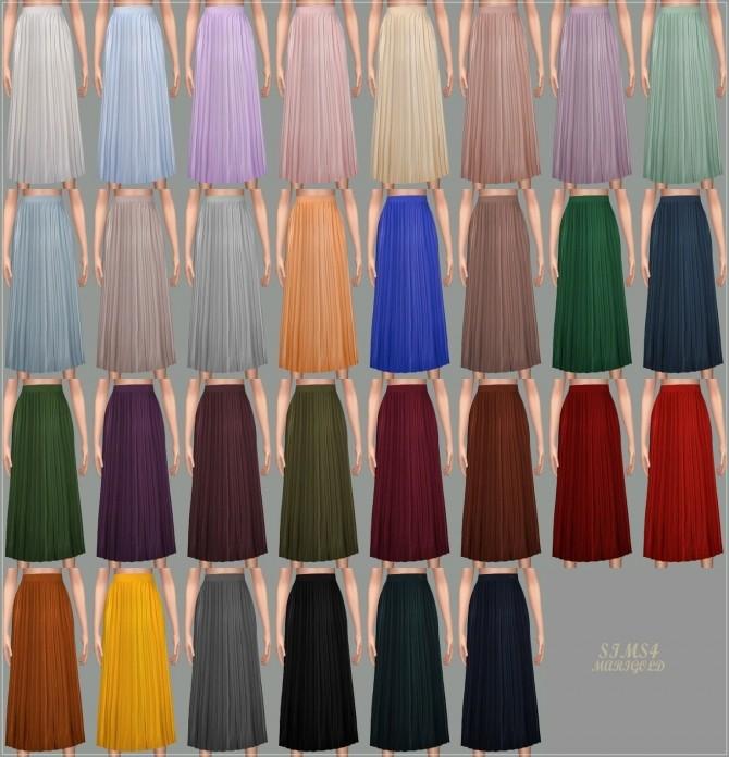 Accordion Long Skirt At Marigold 187 Sims 4 Updates